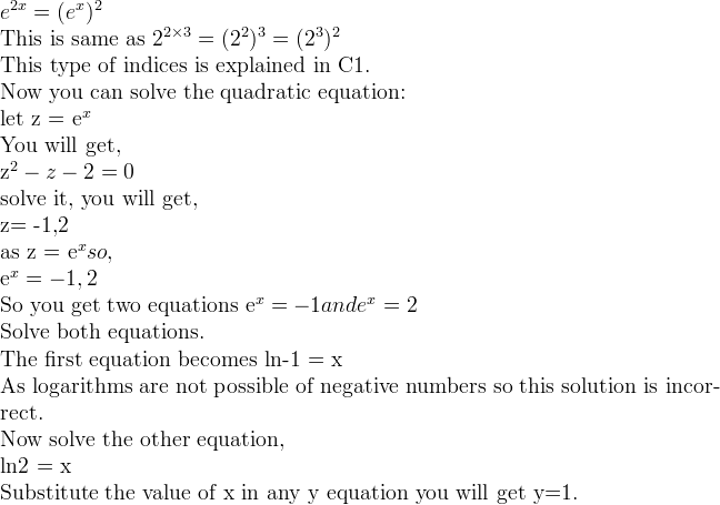 e^x=0 solve for x