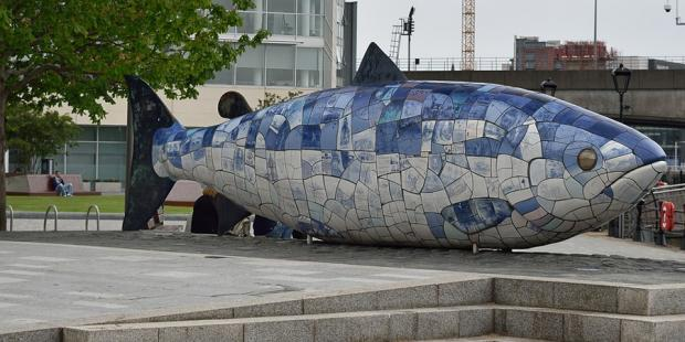 Big Fish monument in Belfast