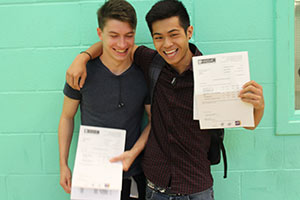 Make sure you get ready before leaving for school or college to collect your A-level results