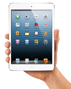 File:IPad mini inHand Wht iOS6 PRINT.jpg
