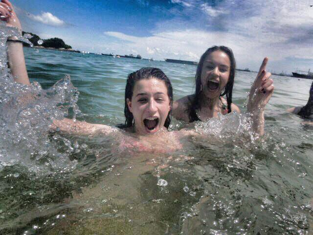 Gap year fun in the sea