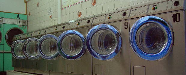 Washing machines at a launderette