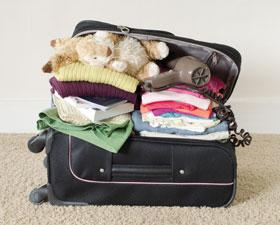 A stuffed suitcase