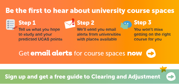 Hear about university course spaces from us to make sure you get into university