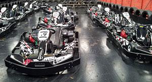 Go-karts lined up