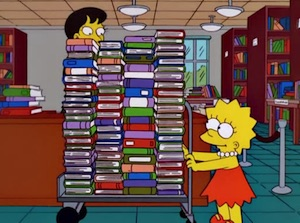 Lisa Simpson carrying books