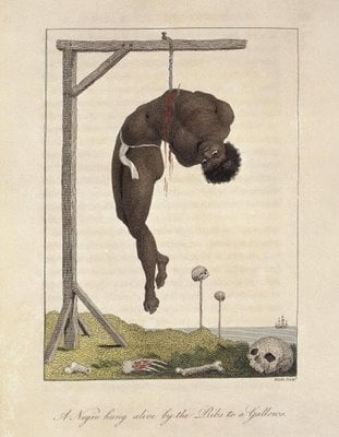 File:Negro hung alive by the Ribs to a Gallows.jpg