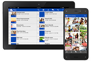 OneDrive on Amazon Fire Tab and Phone