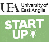 UEA logo and Start Up! competition logo