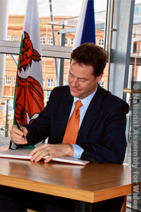 Nick Clegg, deputy prime minister and leader of the Liberal Democrats.